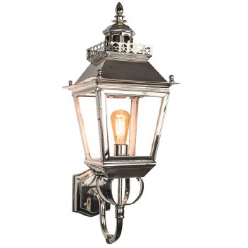 Chateau Outdoor Wall Lantern Antique Brass