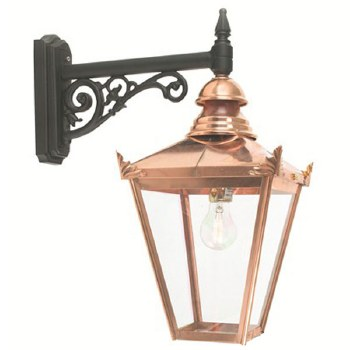 Elstead Chelsea Outdoor Wall Down Light Lantern with Bracket