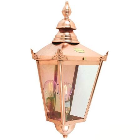 Elstead Chelsea Flush Outdoor Wall Light Lantern Copper