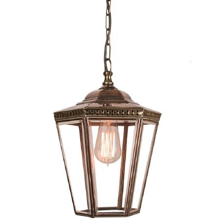 Chelsea Small Pendant Lantern Light Antique Brass
