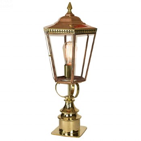 Chelsea Short Pillar Lantern Polished Brass Unlacquered
