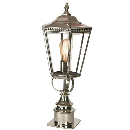 Chelsea Short Pillar Lantern Nickel