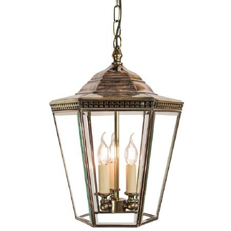 Chelsea Large Pendant Lantern Light Antique Brass