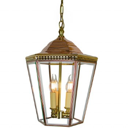 Chelsea Large Pendant Lantern Polished Brass Unlacuquered