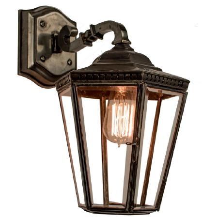 Chelsea Overhead Arm Wall Lantern Antique Brass