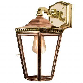Chelsea Overhead Arm Wall Lantern Polished Brass Unlacquered