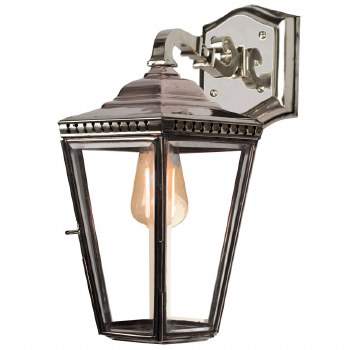 Chelsea Overhead Arm Outdoor Wall Lantern Nickel