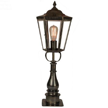 Chelsea Tall Pillar Lantern Antique Brass