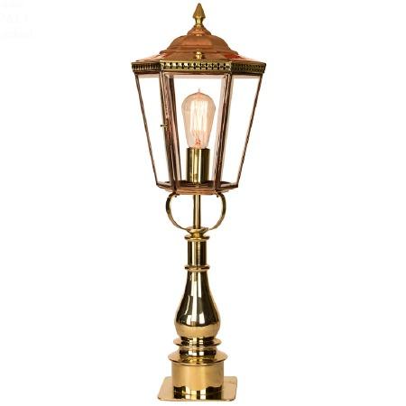 Chelsea Tall Pillar Lantern Polished Brass Unlacquered