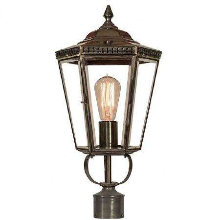 "Chelsea Lamp Post Head to suit 2"" dia. Antique Brass"