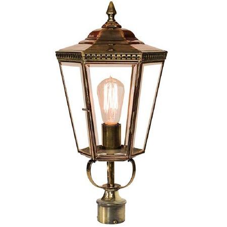 "Chelsea Lamp Post Head to suit 2"" dia. Light Antique Brass"
