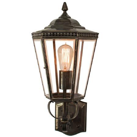 Chelsea Outdoor Wall Lantern Antique Brass