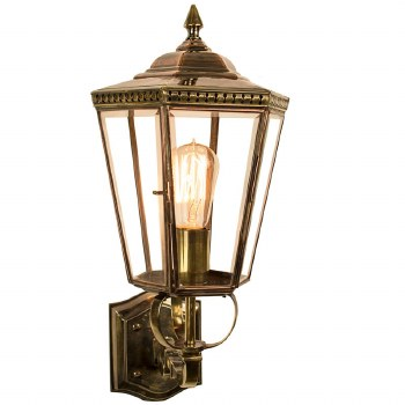 Chelsea Outdoor Wall Lantern Light Antique Brass