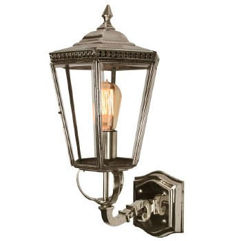 Chelsea Outdoor Wall Lantern Nickel