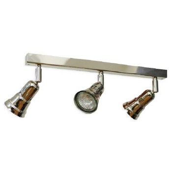 Broughtons Cherry Triple Spotlight on a Bar Polished Nickel