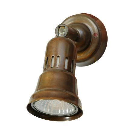 Broughtons Cherry Single Spot Light Antique Brass