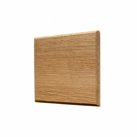 Oak Plinth for House Numbers Chevron Edge 1 Digit