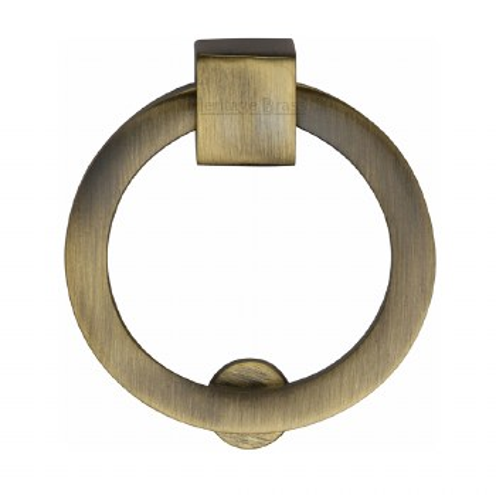 Heritage Circular Cabinet Drop Handle C6321 Antique Brass