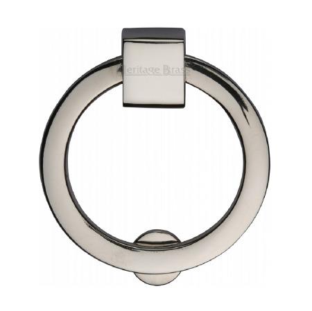 Heritage Circular Cabinet Drop Handle C6321 Polished Nickel