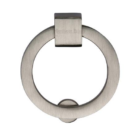 Heritage Circular Cabinet Drop Handle C6321 Satin Nickel