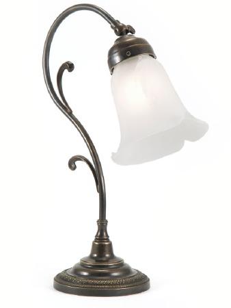 Classic Swan Art Nouveau Scroll Desk or Table Lamp