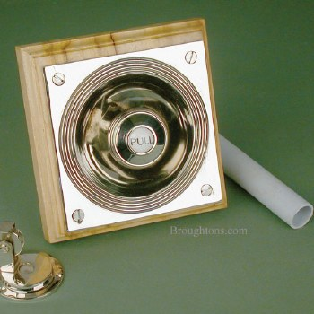 Door Bell Pull with Patress Antique Nickel