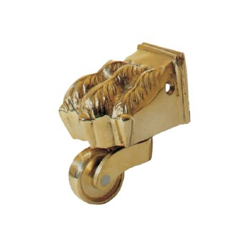 Claw Foot Castors 38mm Polished Brass Unlacquered Set of 4