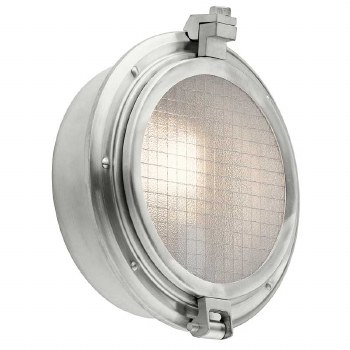 Kichler Clearpoint Outdoor Wall Light Brushed Aluminium