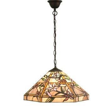 Interiors 1900 Clematis Tiffany Pendant Ceiling Light