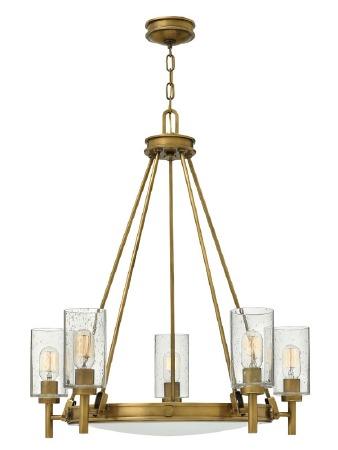 Hinkley Collier 5 Light Pendant Heritage Brass