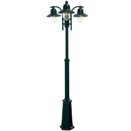 Elstead Como Triple Light Lamp Post Black
