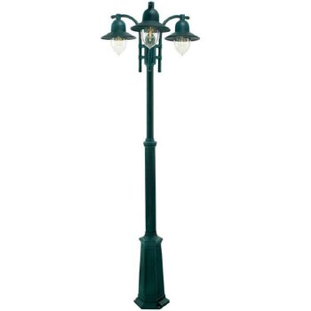 Elstead Como Triple Light Lamp Post Verdigris