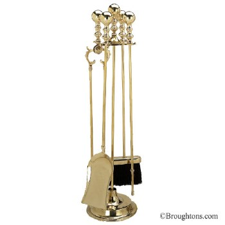 Fire Iron set Polished Brass