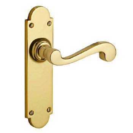 Victorian Constable 650 Door Handles Polished Brass Unklacquered