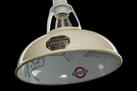 Coolicon Original 1933 Design Light Shade 23cm Cream with Map Inside