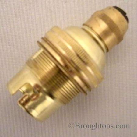 Cordgrip Lampholder BC Raw Brass