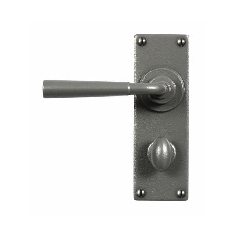 Stonebridge Cotswold Bathroom Door Handles Armor Coat Satin Steel