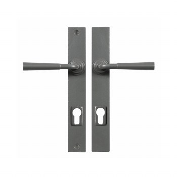 Stonebridge Cotswold Multipoint Entry Door Handles Armor Coat Satin Steel