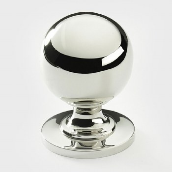 Armac Cotswold Round Cupboard Knob 32mm Polished Nickel
