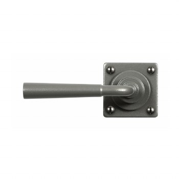 Stonebridge Cotswold Square Rose Door Handles Armor Coat Satin Steel