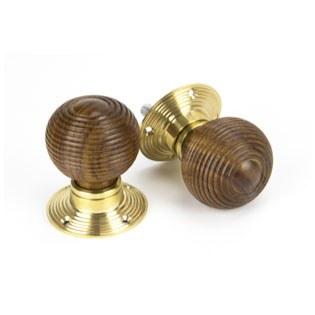 From The Anvil Cottage Mortice/Rim Knob Set Rosewood & Polished Brass