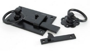 From The Anvil Cottage Rim Latch LH Black