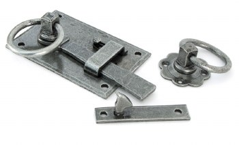 From The Anvil Cottage Rim Latch LH Pewter