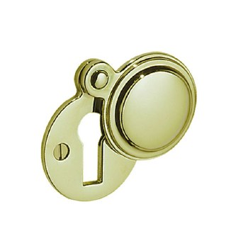 Victorian Constable 615 Covered Escutcheon Polished Brass Unlacquered