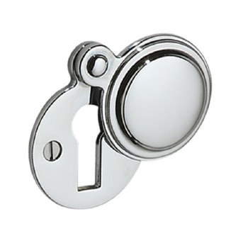Victorian Constable 615 Covered Escutcheon Polished Chrome