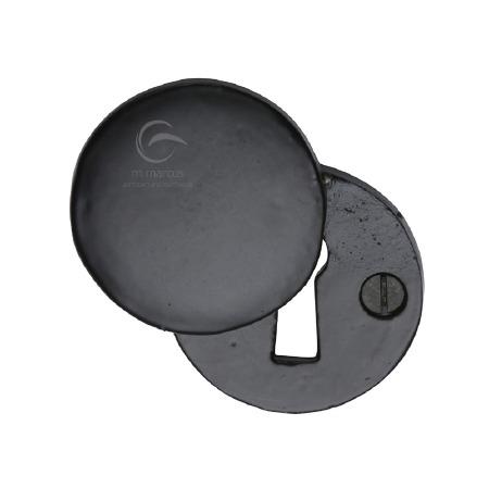 Heritage Covered Escutcheon FB554 Black Iron Rustic