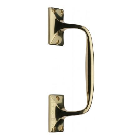 Heritage Cranked Pull Handle V1150 202 Polished Brass