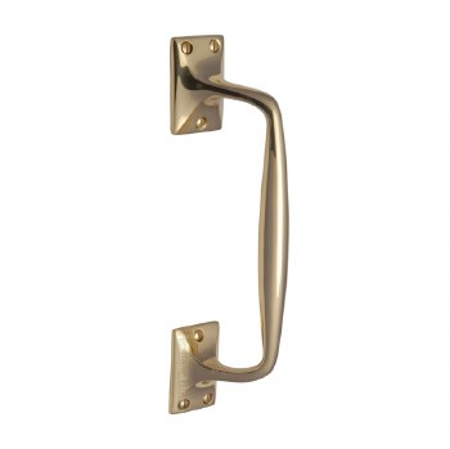 Heritage Cranked Pull Handle V1150 253 Polished Brass