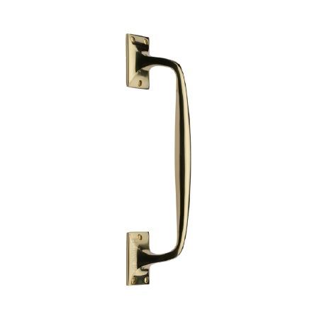 Heritage Cranked Pull Handle V1150 310 Polished Brass