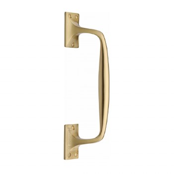Heritage Cranked Pull Handle V1150 253 Satin Brass